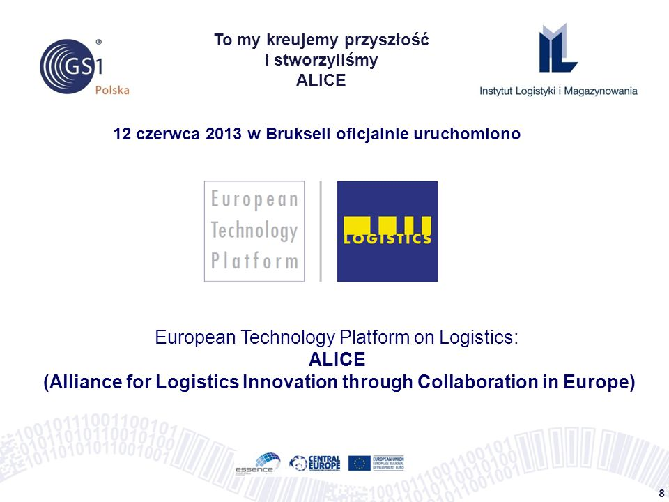 European Technology Platform on Logistics: ALICE