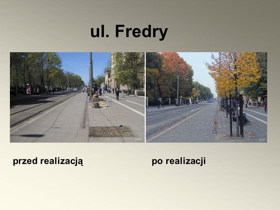 ul. Fredry przed realizacją po realizacji