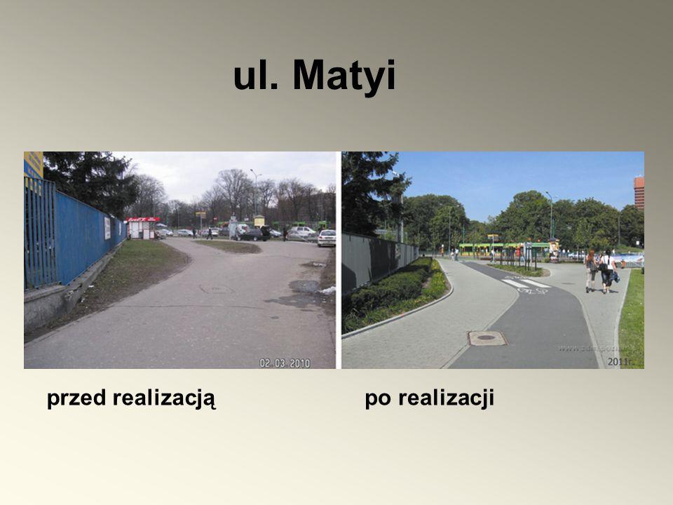 ul. Matyi przed realizacją po realizacji