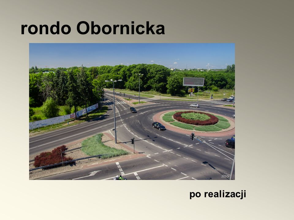 rondo Obornicka po realizacji