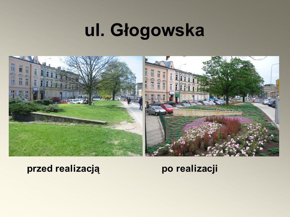 ul. Głogowska przed realizacją po realizacji