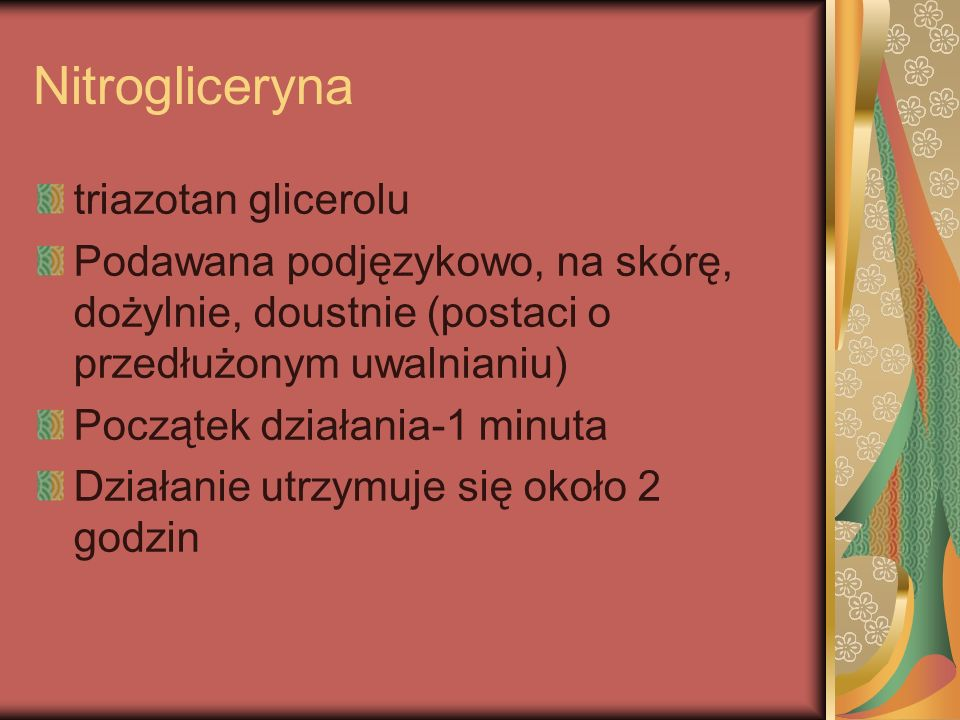 Nitrogliceryna triazotan glicerolu