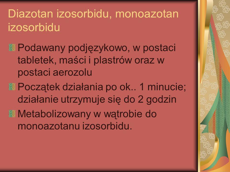 Diazotan izosorbidu, monoazotan izosorbidu