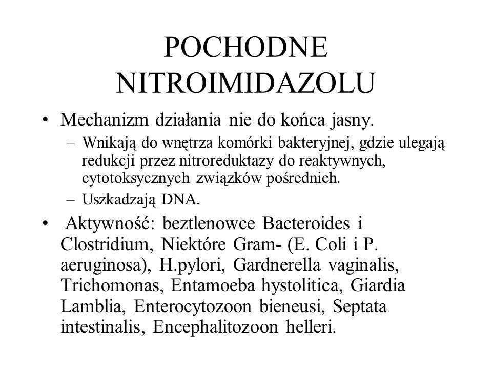 POCHODNE NITROIMIDAZOLU