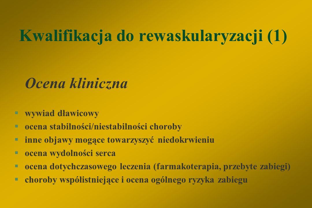 Kwalifikacja do rewaskularyzacji (1)