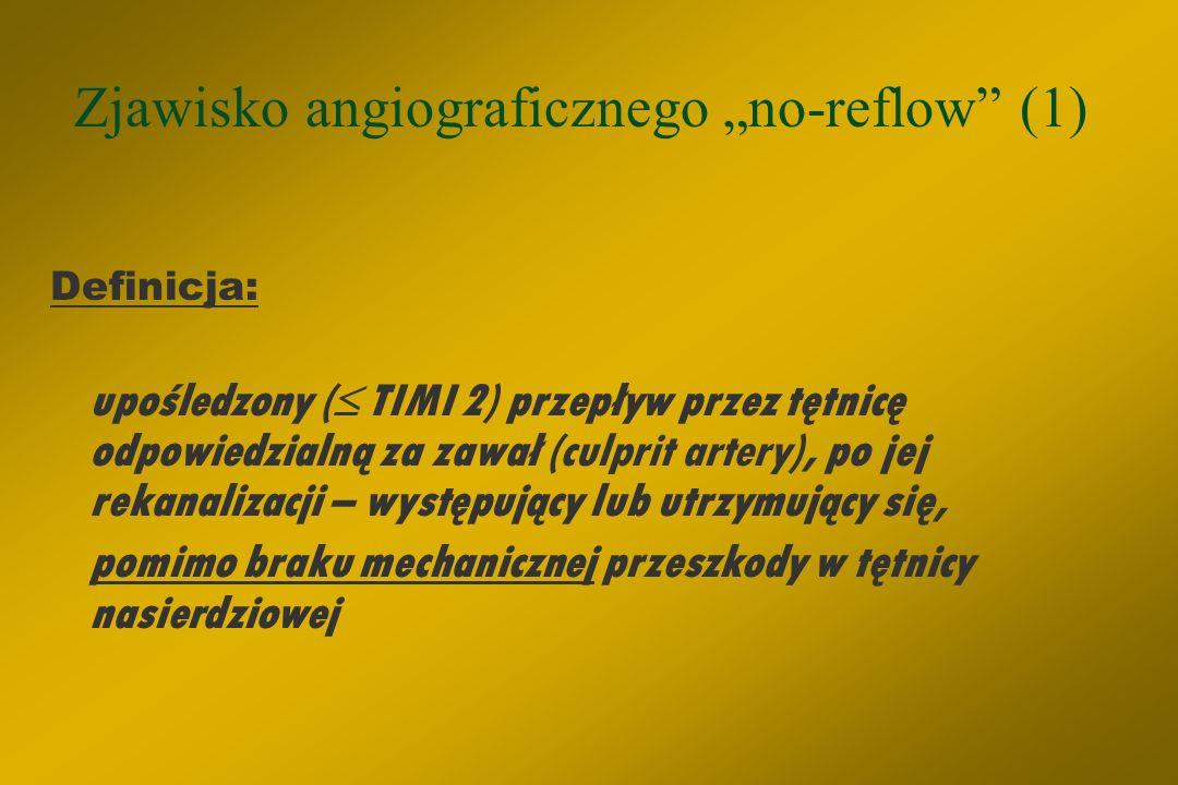 """Zjawisko angiograficznego """"no-reflow (1)"""