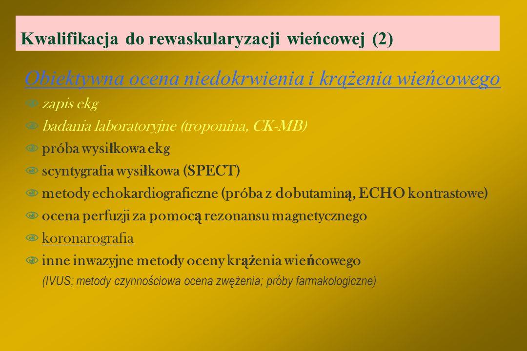 Kwalifikacja do rewaskularyzacji wieńcowej (2)