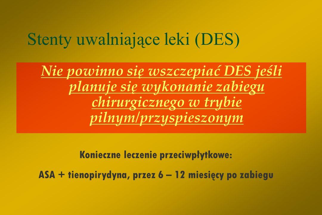 Stenty uwalniające leki (DES)