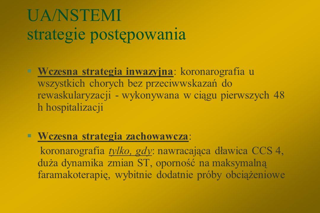 UA/NSTEMI strategie postępowania