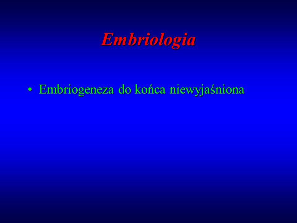 Embriologia Embriogeneza do końca niewyjaśniona