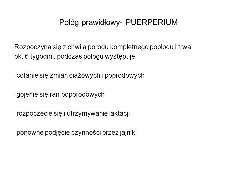 Połóg prawidłowy- PUERPERIUM