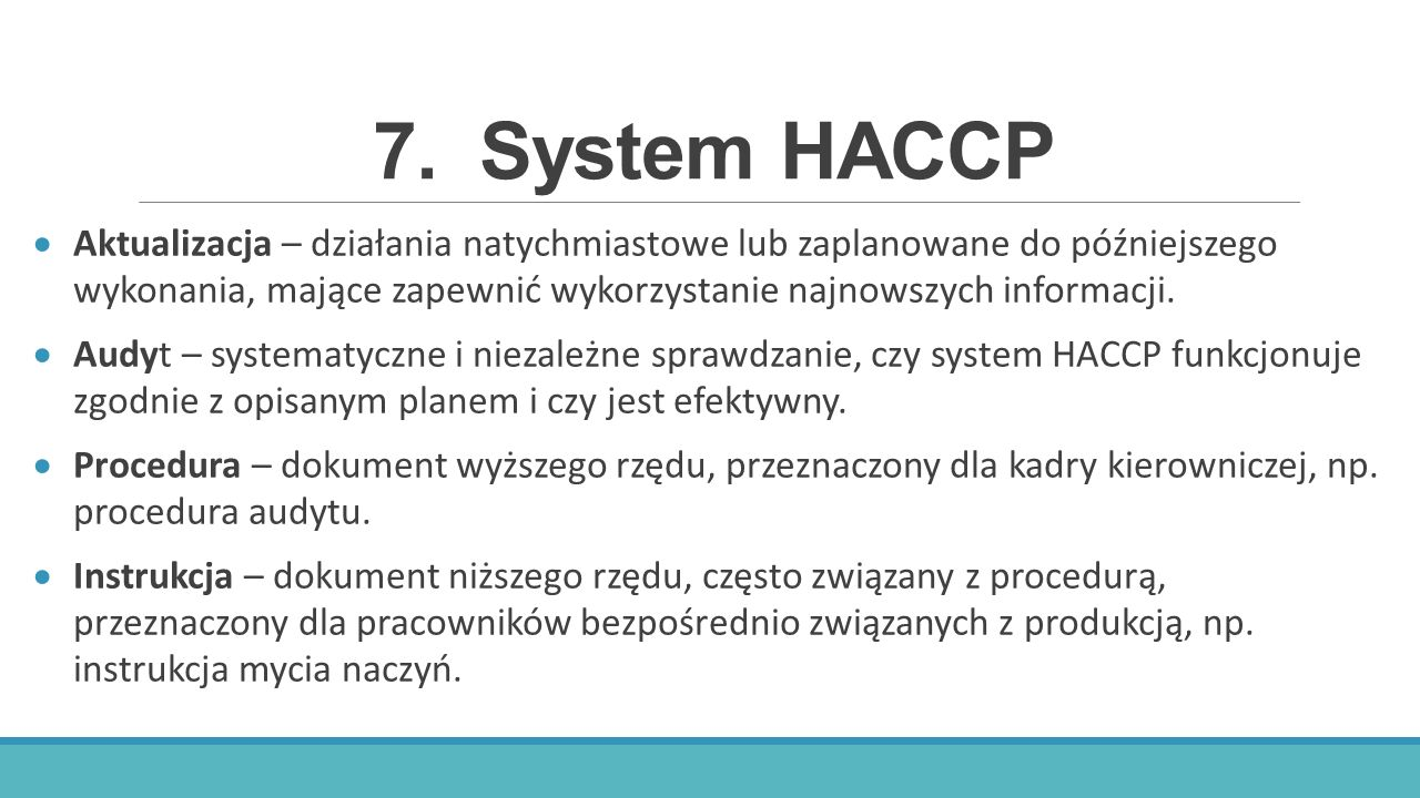 7. System HACCP