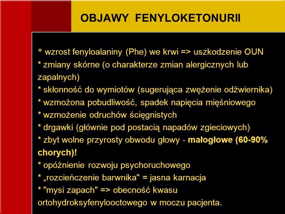 OBJAWY FENYLOKETONURII