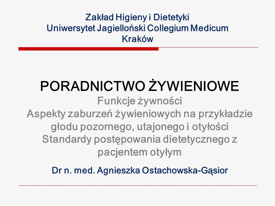 Dr n. med. Agnieszka Ostachowska-Gąsior