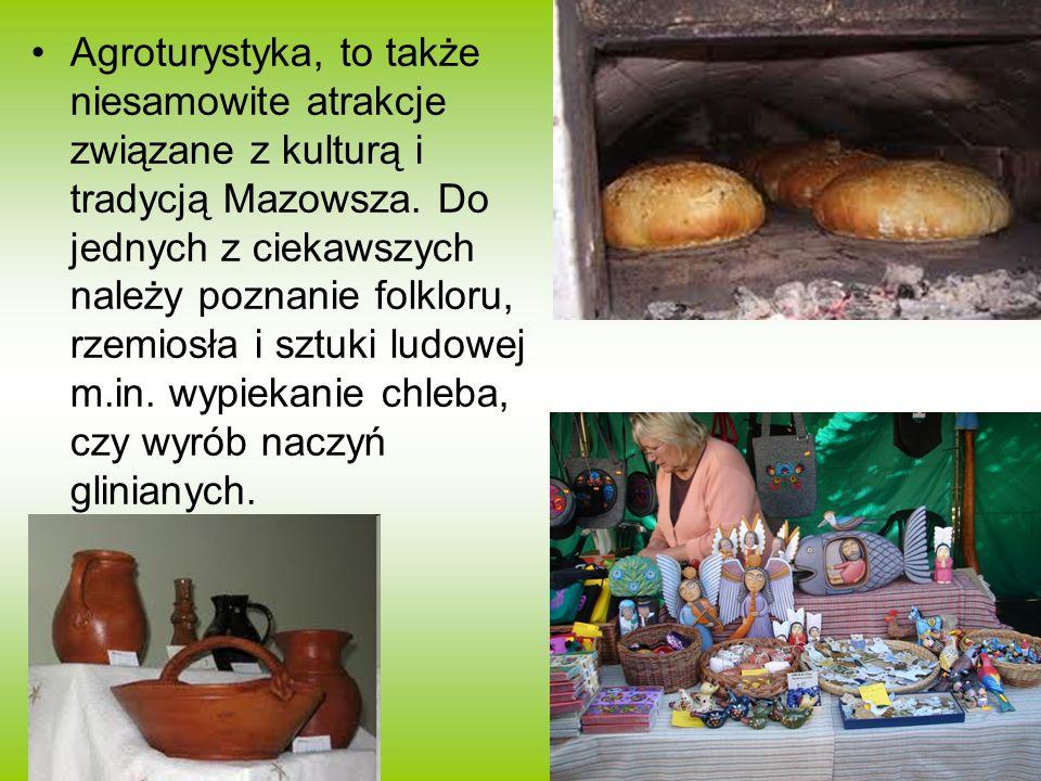 Agroturystyka, to także niesamowite atrakcje związane z kulturą i tradycją Mazowsza.