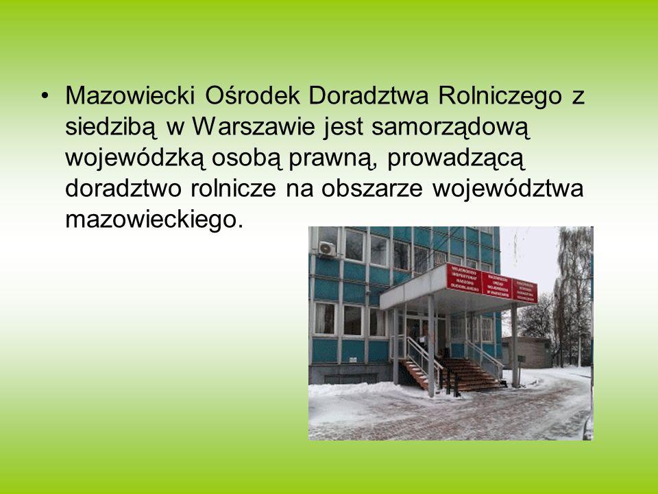 Mazowiecki Ośrodek Doradztwa Rolniczego z siedzibą w Warszawie jest samorządową wojewódzką osobą prawną, prowadzącą doradztwo rolnicze na obszarze województwa mazowieckiego.