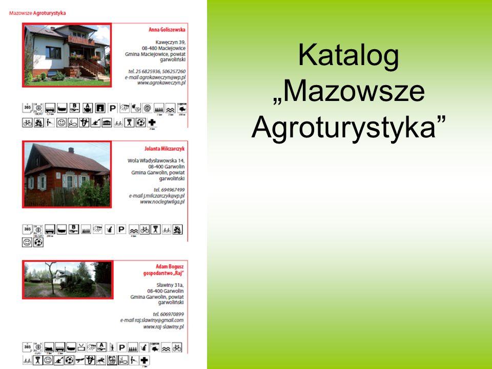 """Katalog """"Mazowsze Agroturystyka"""