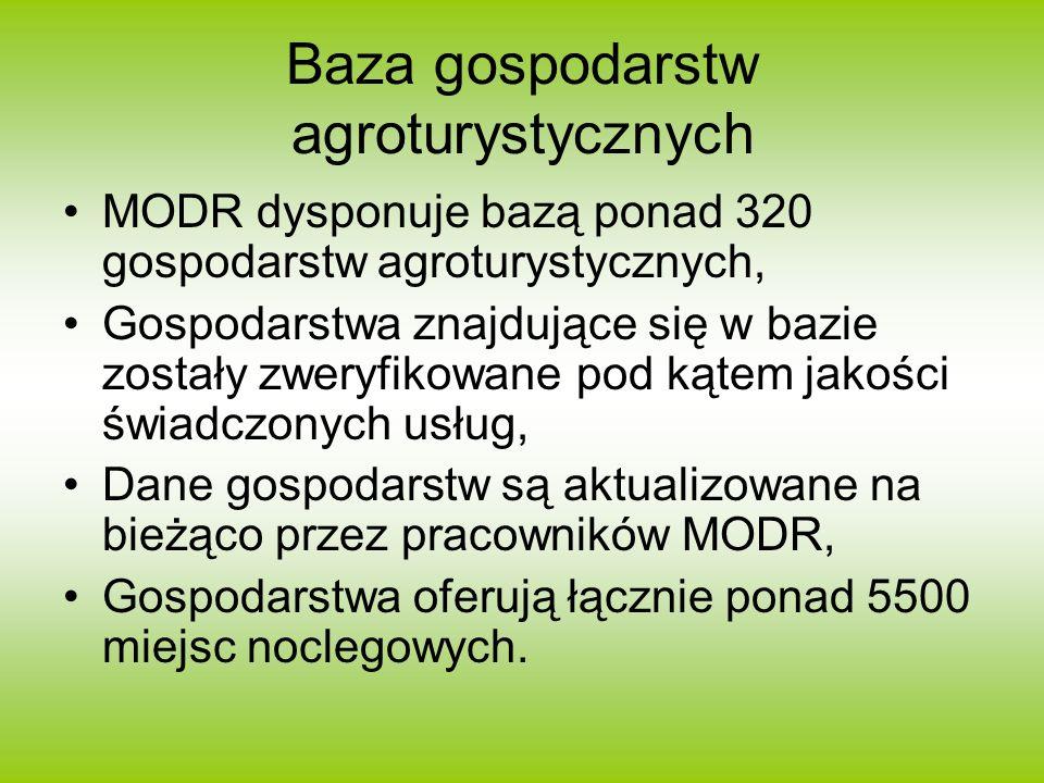 Baza gospodarstw agroturystycznych