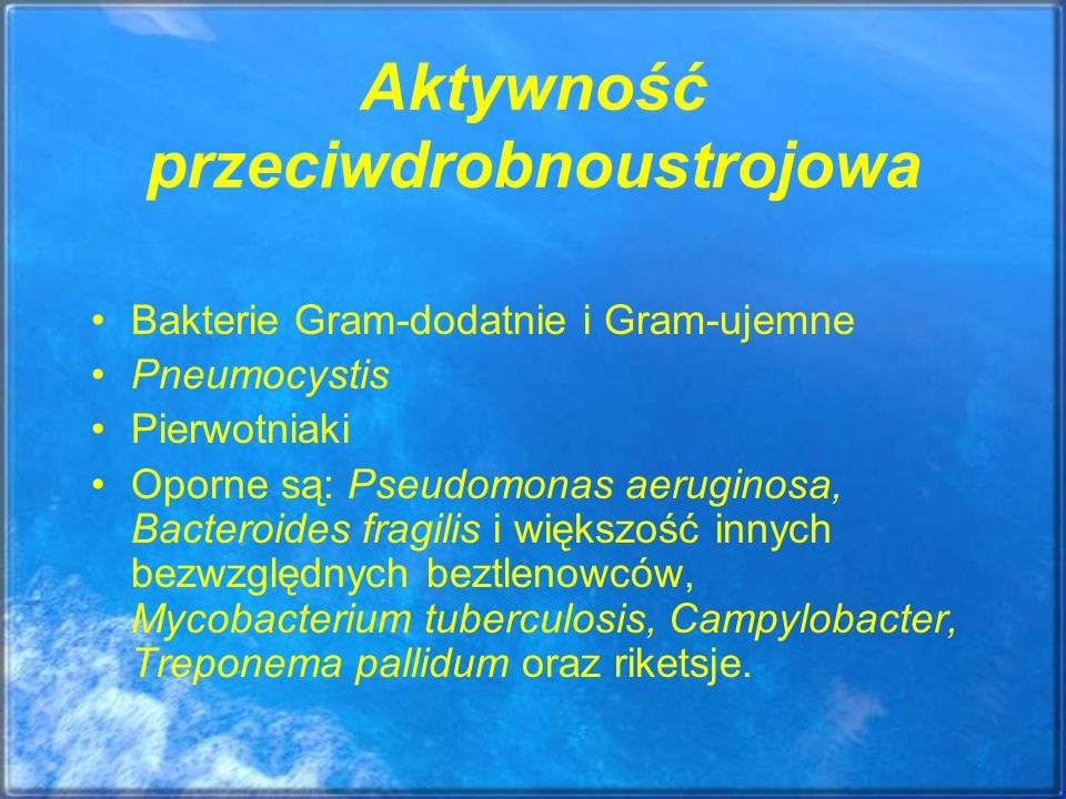 Aktywność przeciwdrobnoustrojowa