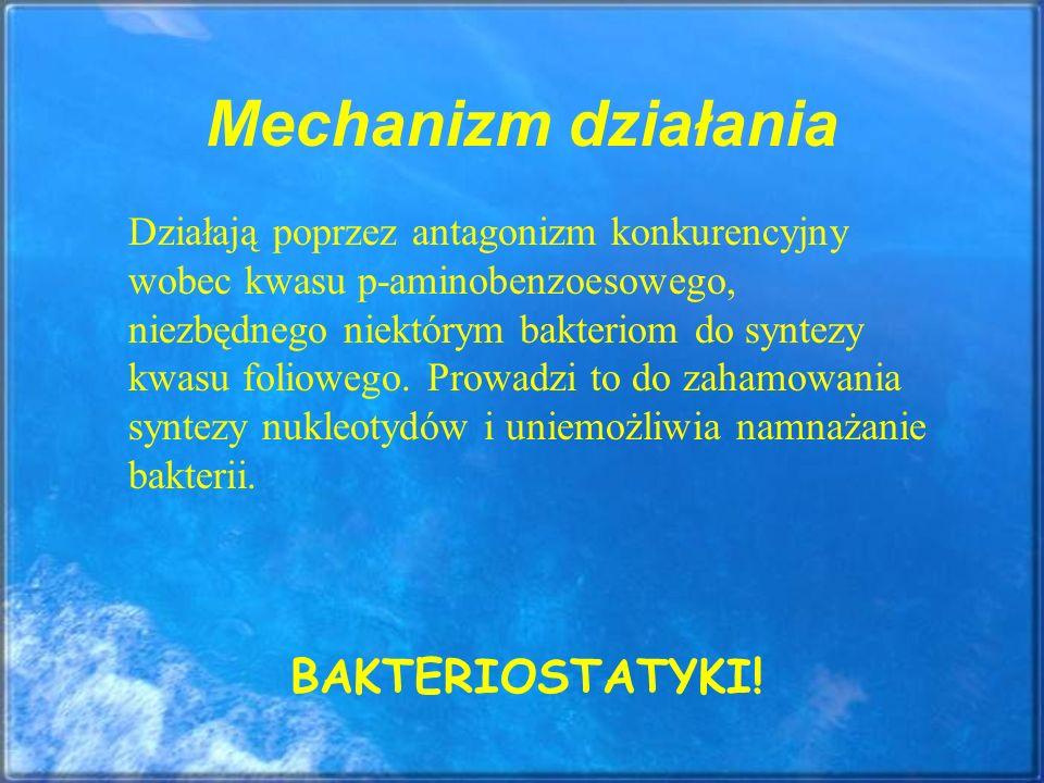 Mechanizm działania BAKTERIOSTATYKI!