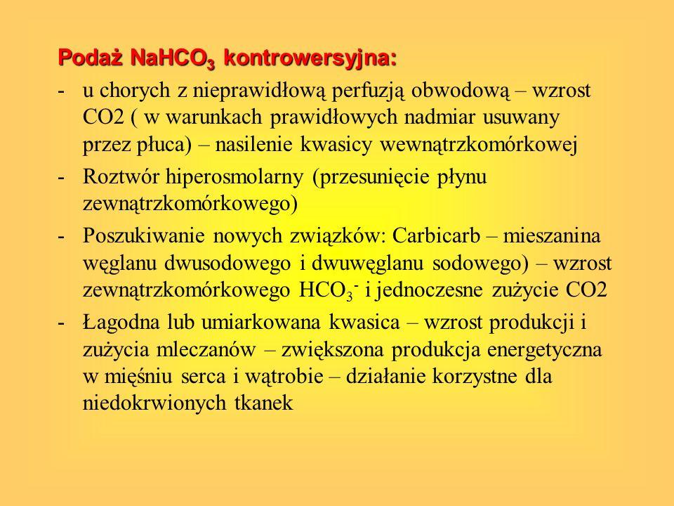 Podaż NaHCO3 kontrowersyjna:
