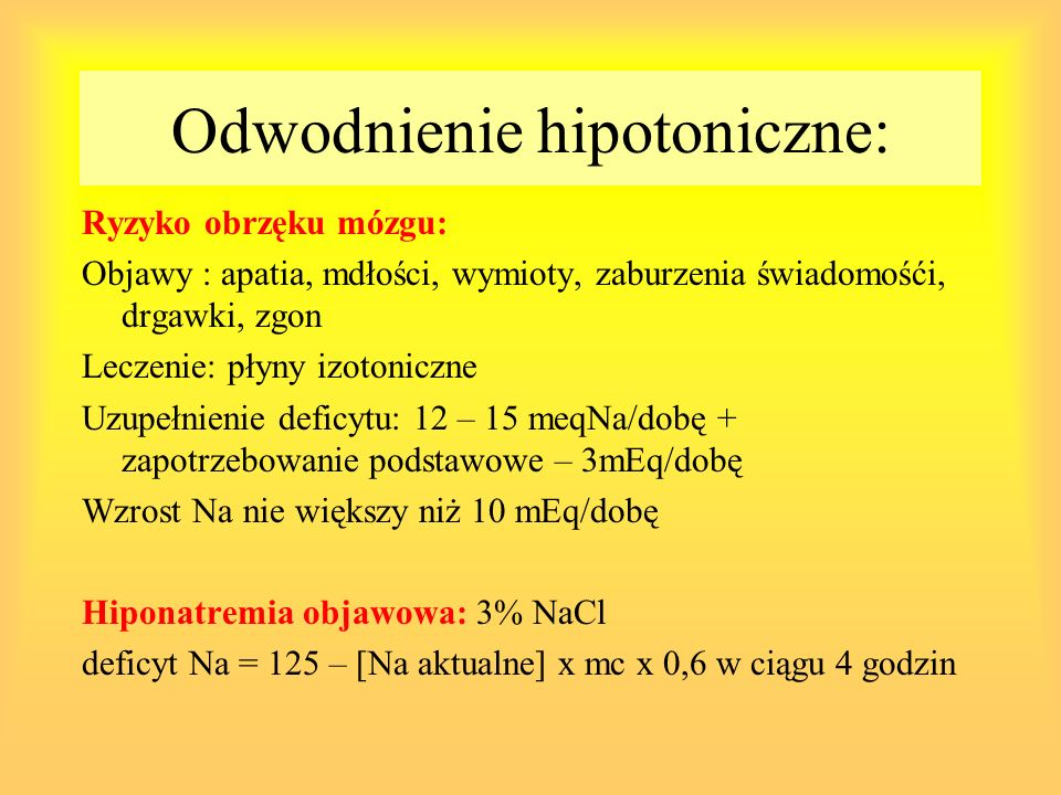 Odwodnienie hipotoniczne: