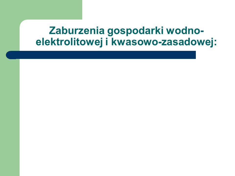 Zaburzenia gospodarki wodno-elektrolitowej i kwasowo-zasadowej: