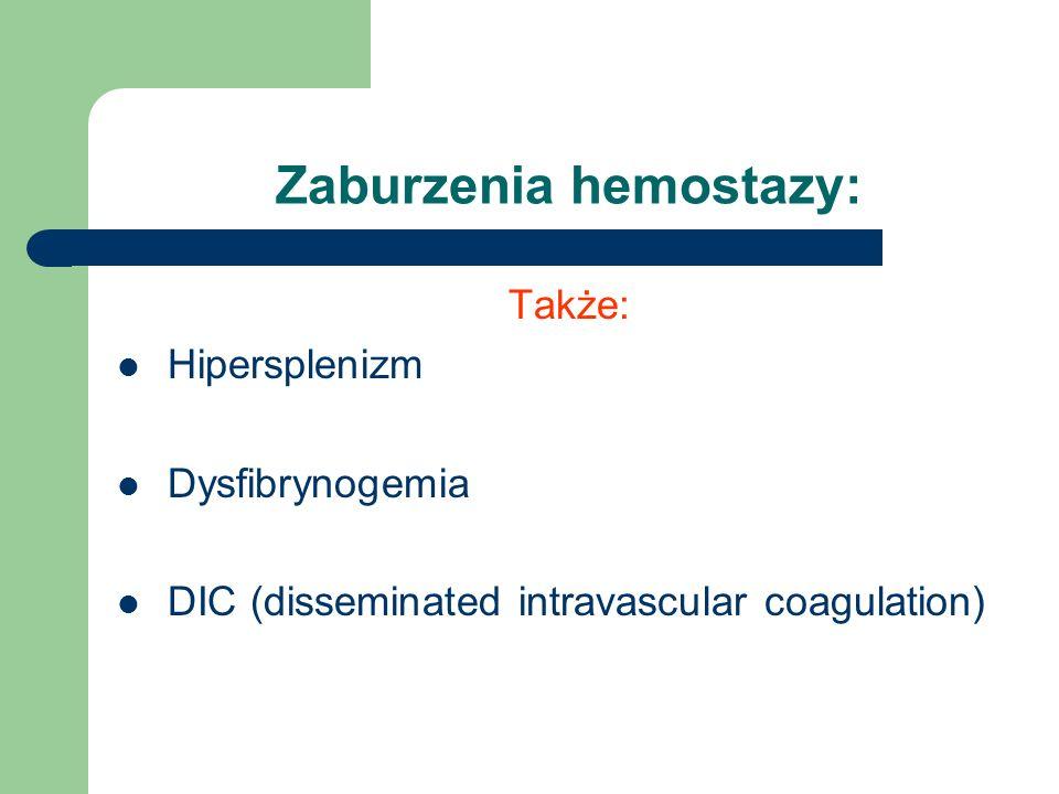 Zaburzenia hemostazy: