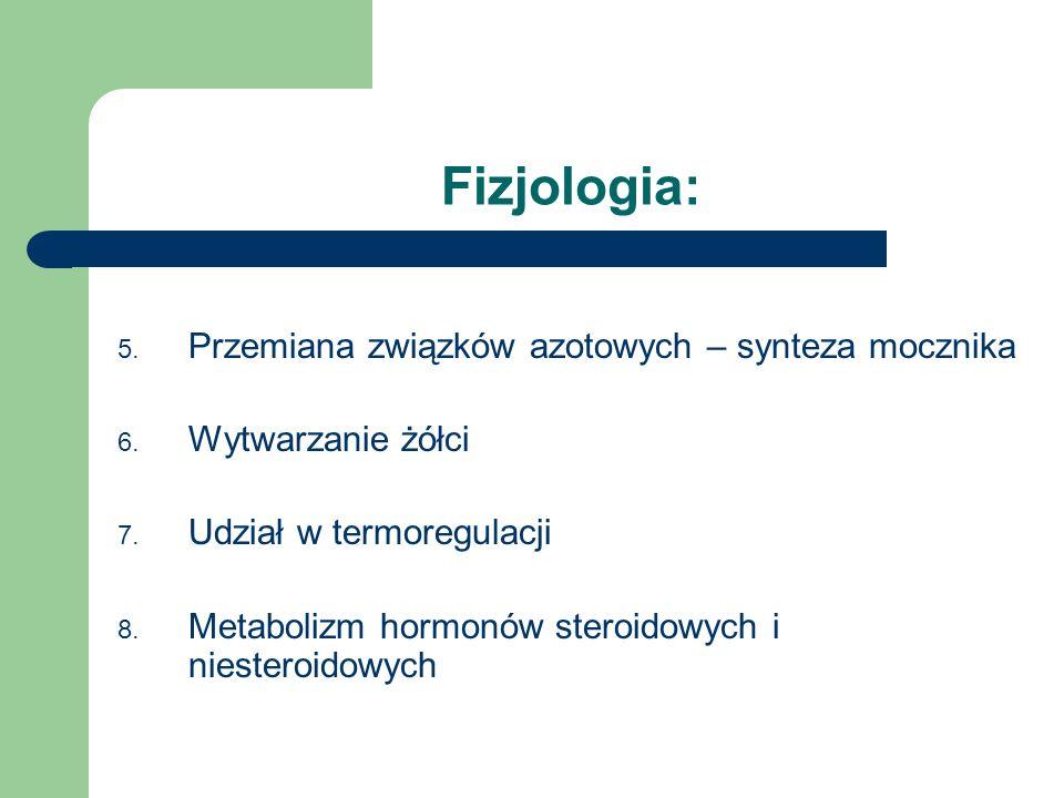 Fizjologia: Przemiana związków azotowych – synteza mocznika
