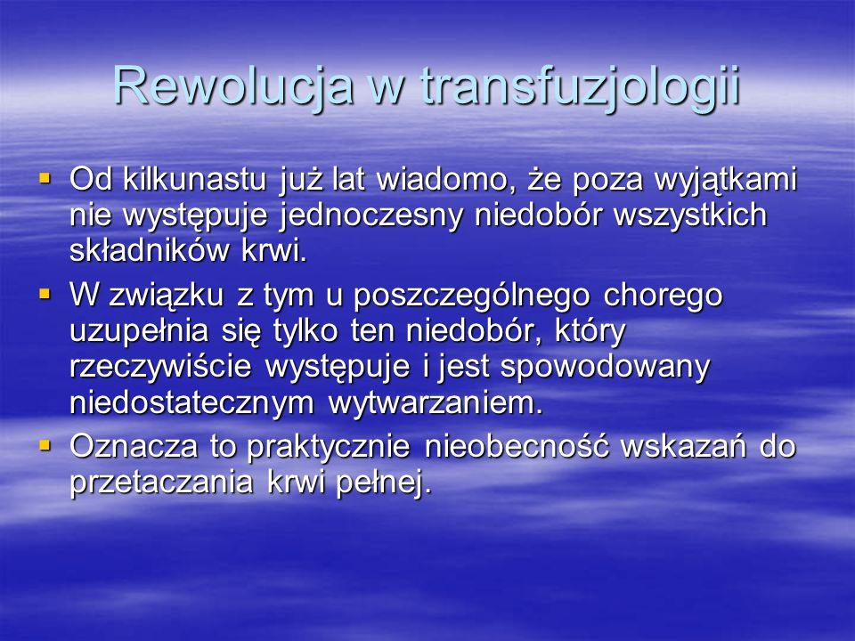 Rewolucja w transfuzjologii