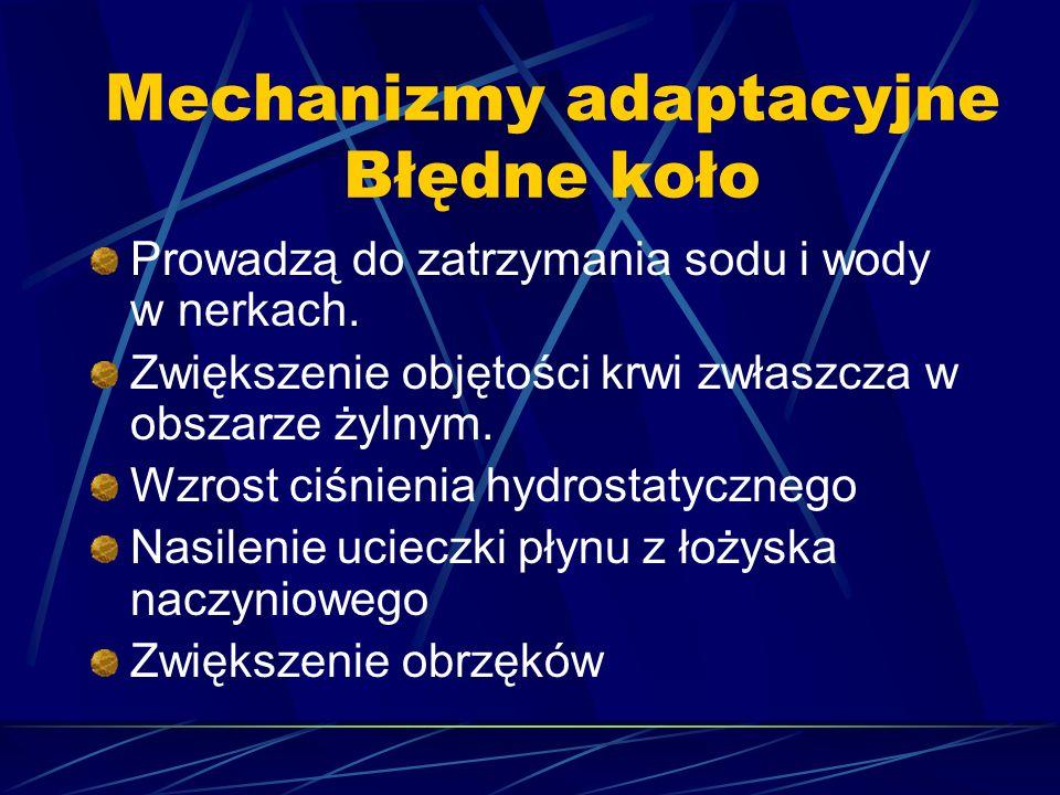 Mechanizmy adaptacyjne Błędne koło