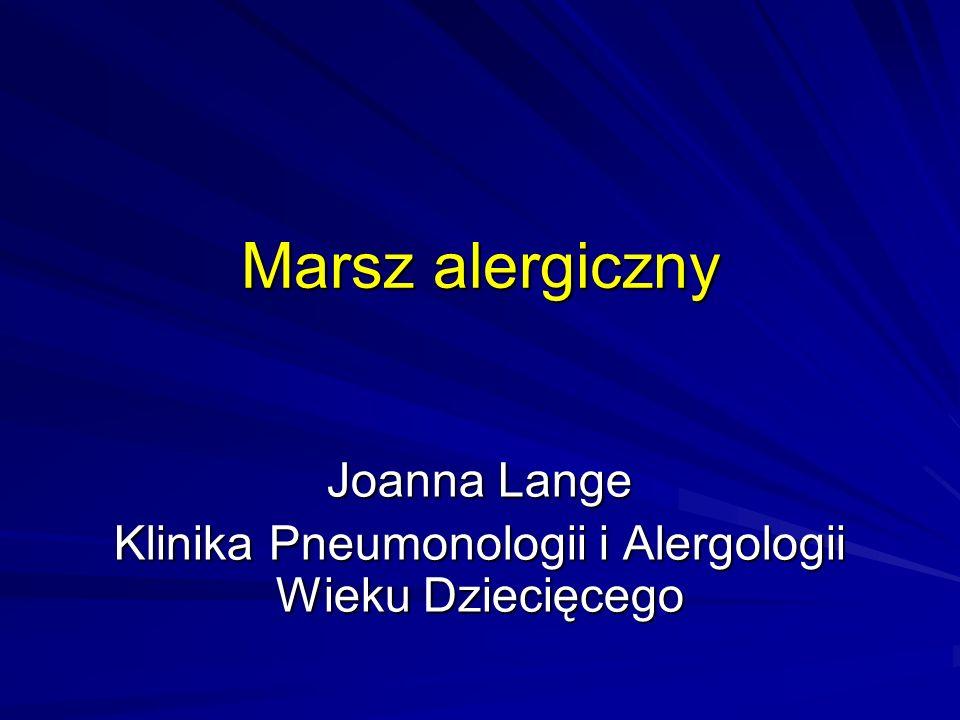 Joanna Lange Klinika Pneumonologii i Alergologii Wieku Dziecięcego