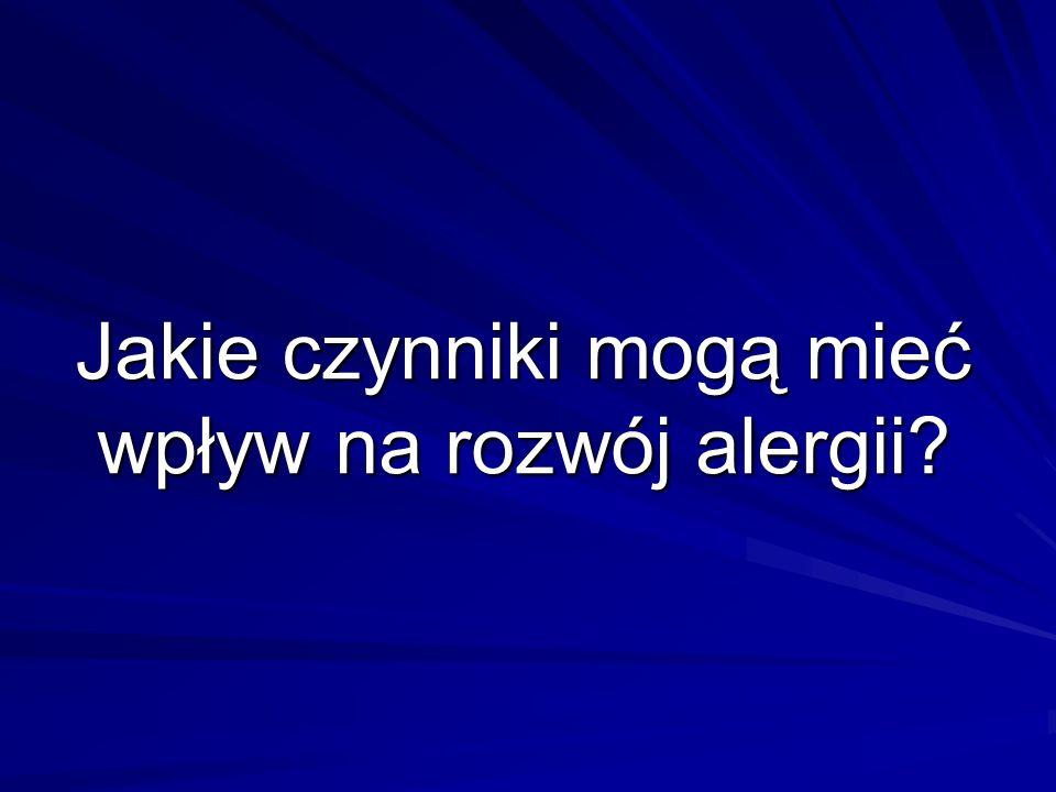 Jakie czynniki mogą mieć wpływ na rozwój alergii