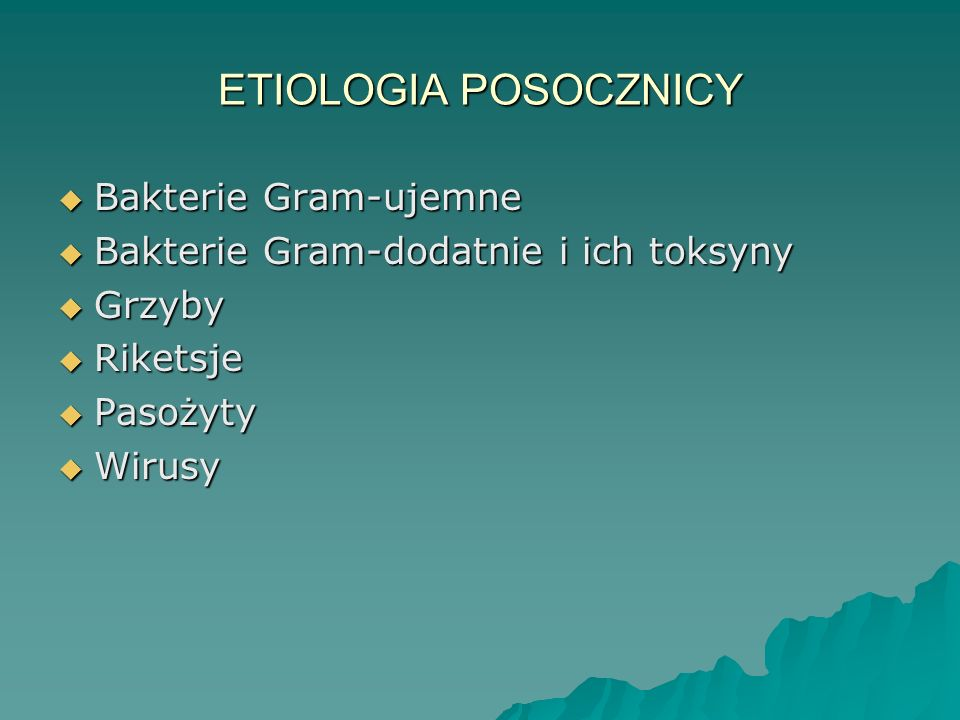 ETIOLOGIA POSOCZNICY Bakterie Gram-ujemne
