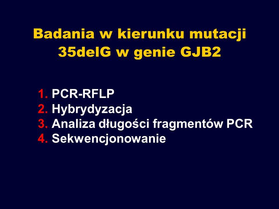 Badania w kierunku mutacji 35delG w genie GJB2