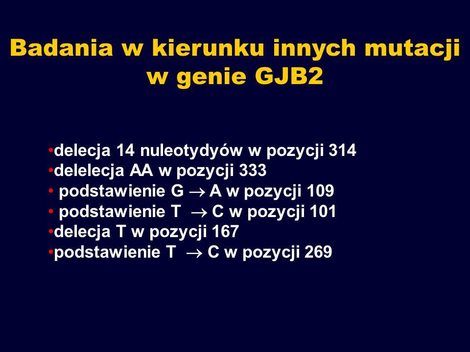 Badania w kierunku innych mutacji w genie GJB2