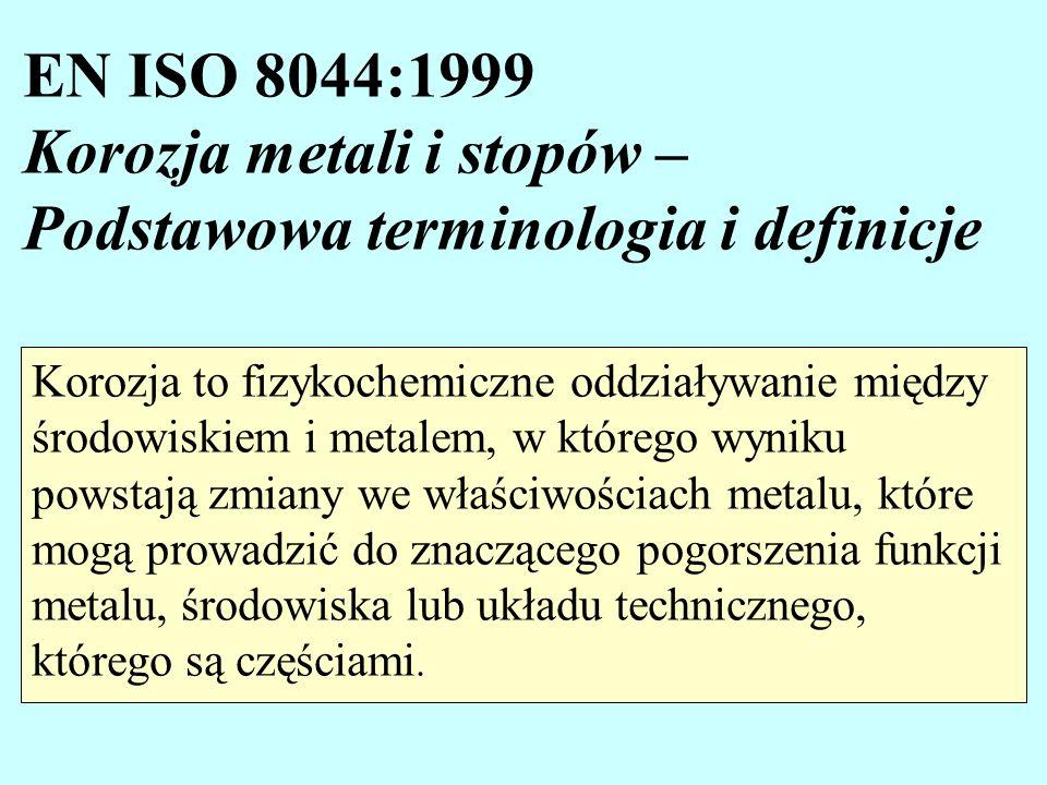 EN ISO 8044:1999 Korozja metali i stopów – Podstawowa terminologia i definicje