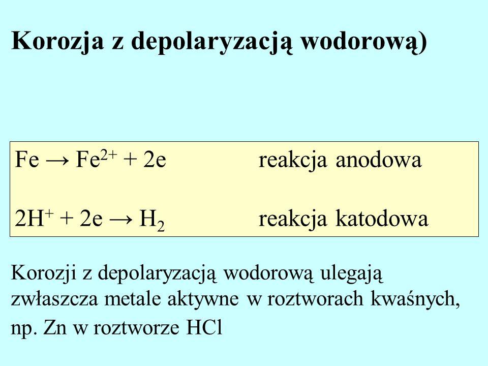 Korozja z depolaryzacją wodorową)