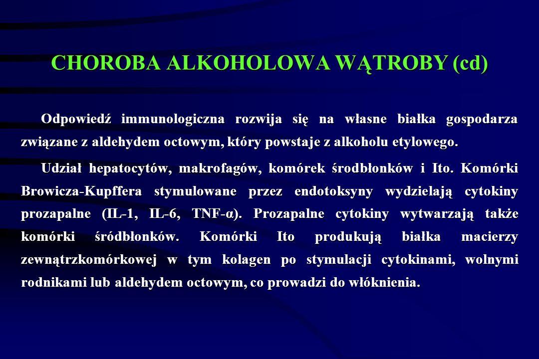 CHOROBA ALKOHOLOWA WĄTROBY (cd)