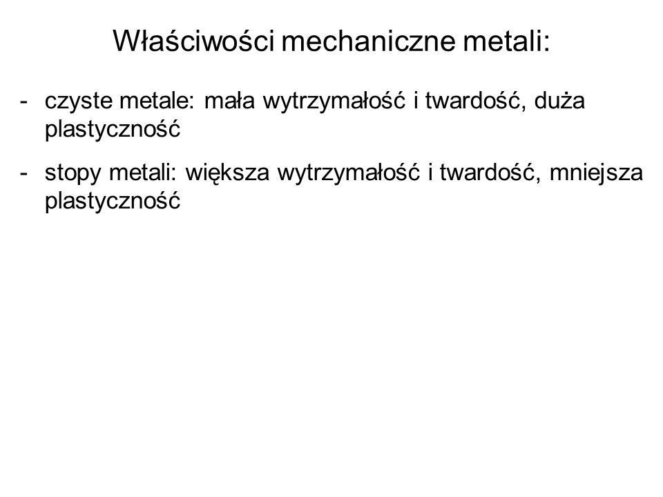 Właściwości mechaniczne metali: