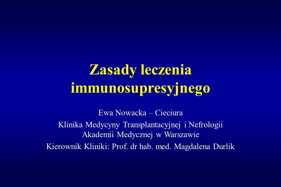 Zasady leczenia immunosupresyjnego