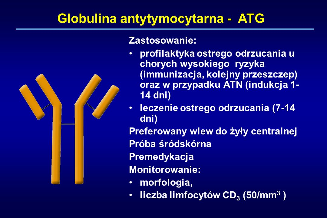 Globulina antytymocytarna - ATG