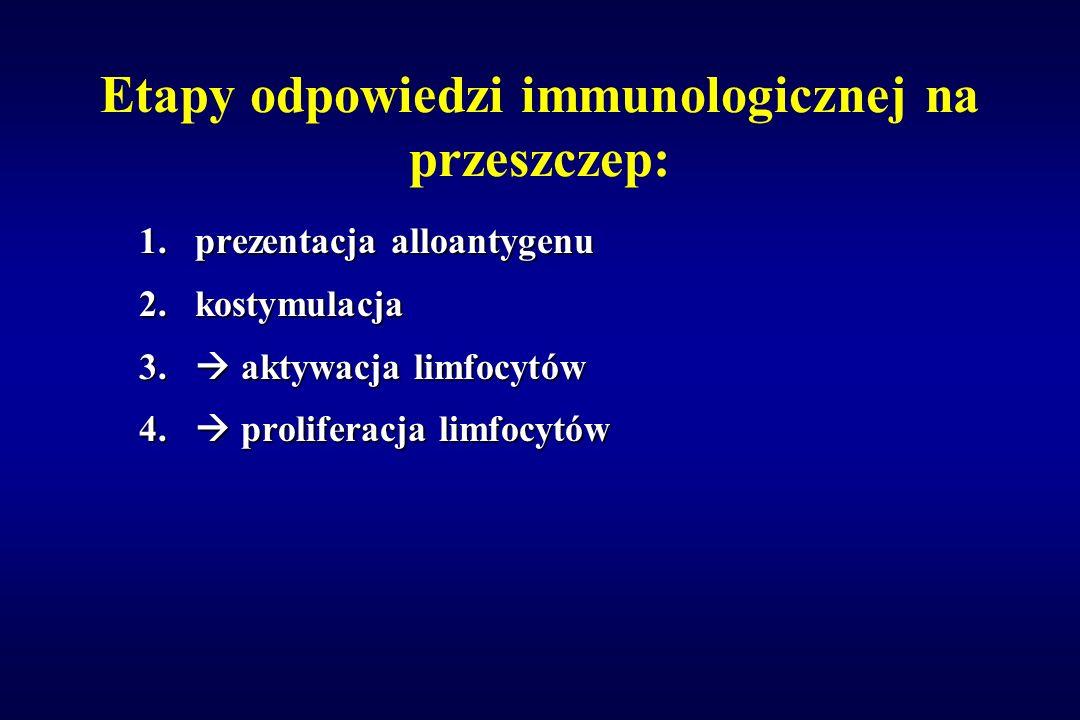 Etapy odpowiedzi immunologicznej na przeszczep: