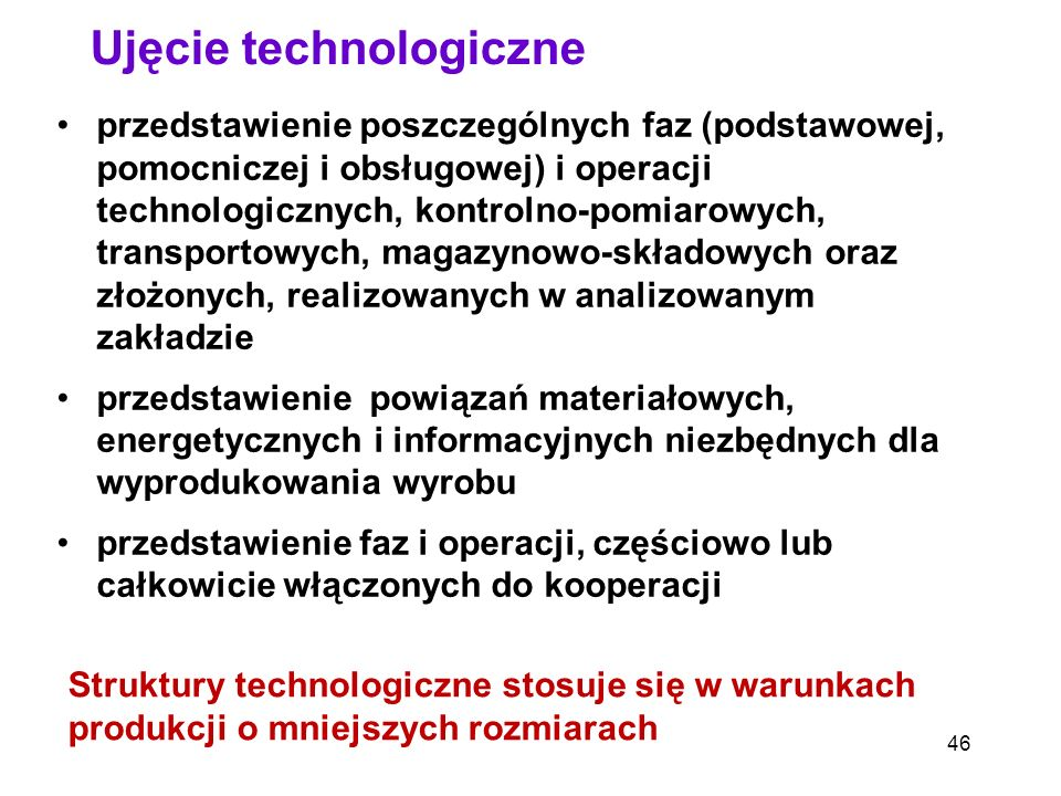Ujęcie technologiczne