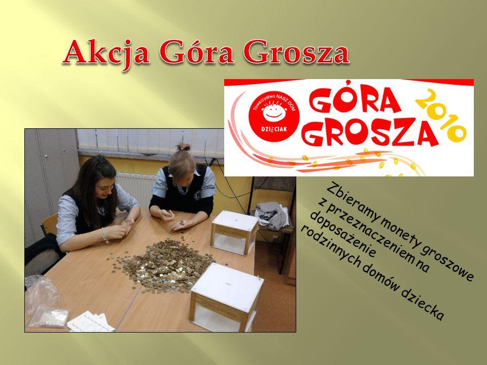 Akcja Góra Grosza Zbieramy monety groszowe z przeznaczeniem na doposażenie.