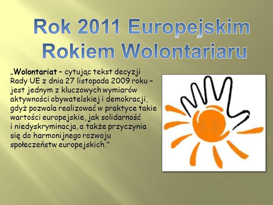 Rok 2011 Europejskim Rokiem Wolontariaru