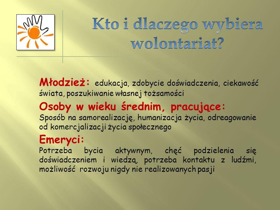 Kto i dlaczego wybiera wolontariat