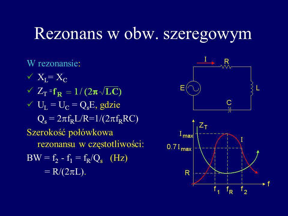 Rezonans w obw. szeregowym