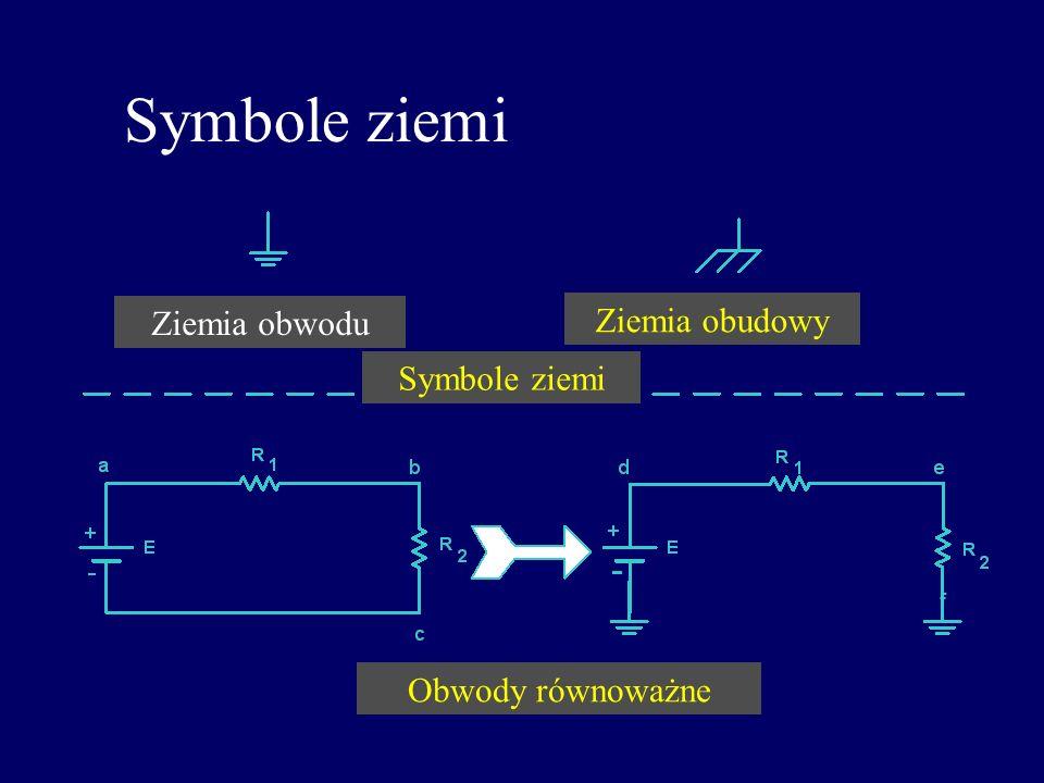 Symbole ziemi Ziemia obwodu Ziemia obudowy Symbole ziemi f
