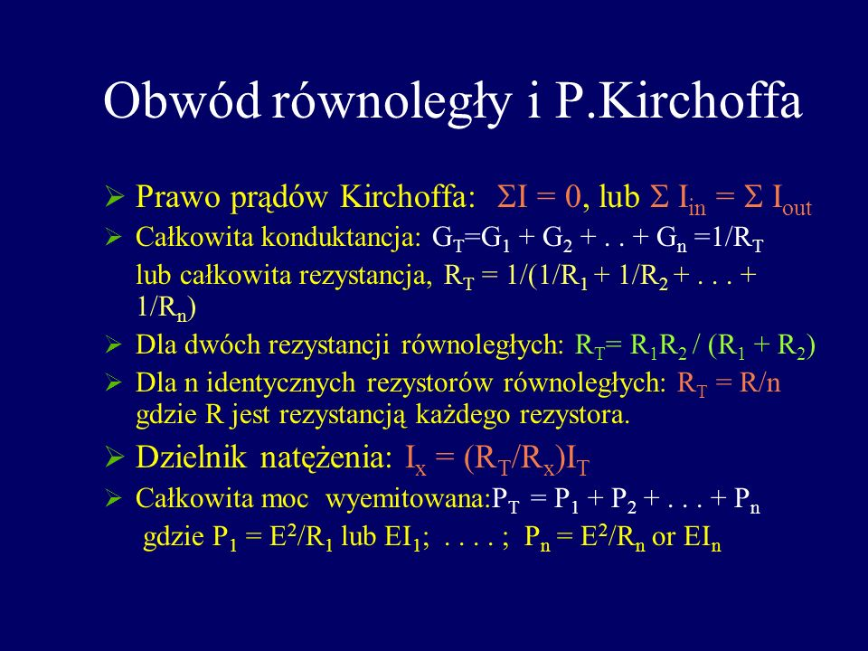 Obwód równoległy i P.Kirchoffa